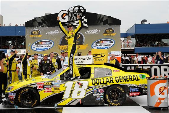 Joey Logano continues his roll with Nationwide win at Michigan