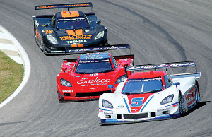 Corvettes fighting for the lead in DP Class.