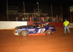 Mini Stocks winner Gary Parker