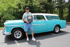 The overall winner of a whopping 562 cars judged in the show was a 1955 Chevy Nomad owned by Bill Lemming of Fayetteville, GA.