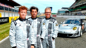 Patrick Long, Patrick Dempsey and Joe Foster are the only all-American driver lineup in the 90th Anniversary 24 Hours of Le Mans. (Story and photo courtesy of ALMS)