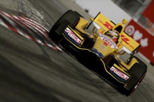 Ryan Hunter-Reay turns into Turn 10 in Toronto -- Photo by: Shawn Gritzmacher