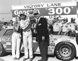 1982 - Dale Earnhardt: Leave it to a legend to start a new era right. Dale Earnhardt (center) earned his way into victory lane following the Goody's 300 on February 13, 1982 in Daytona Beach, Florida - the first race in what is now known as the NASCAR Nationwide Series. (Photo by ISC Archives via Getty Images)
