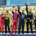 Photos by MSA Staff: Funny Car driver Robert Hight made it back-to-back wins by kicking off the NHRA's Countdown to the Championship playoffs with a victory Sunday at the […]