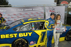 Pole winner Ricky Stenhouse.