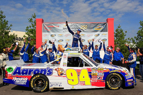 Elliott scores first NASCAR Camping World Truck Series win in Canada