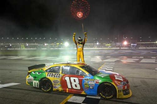 Kyle Busch holds off Joey Logano for Cup win at Atlanta