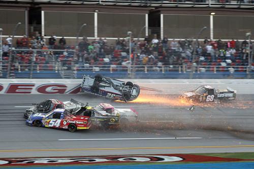 NCWTS: Johnny Sauter avoids wild wreck to win Talladega truck race