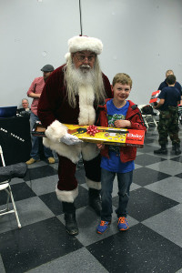 Santa gave out some early gifts to the kids who attended.