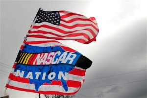 Flags are seen over fan areas prior the NASCAR Sprint Cup Series STP 500 at Martinsville Speedway on March 30, 2014 in Martinsville, Virginia.Photo: Jeff Curry/Getty Images)