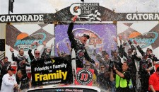 In a race that began with an air of inevitability as thick as the storm clouds that pelted Phoenix International Raceway on Saturday night, Kevin Harvick survived a succession of […]