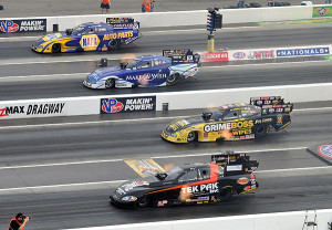 Four Wide Funny Cars