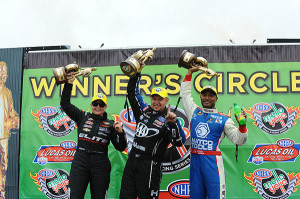 Winner's CelebrationPhoto courtesy of NHRA Media