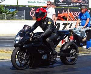 Race 2: Street ET Bike winner Andrew Patterson