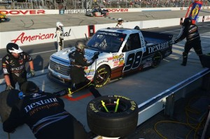 Johnny Sauter, driver of the #98 Nextant/Curb Records Toyota, pits during the NASCAR Camping World Truck Series Lucas Oil 200 at Dover International Speedway on May 30, 2014 in Dover, Delaware.Photo: Drew Hallowell/NASCAR via Getty Images