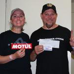 """Super Pro Bike race 2 Jimmy """"ChaCha"""" Heisler with wife Eeman"""