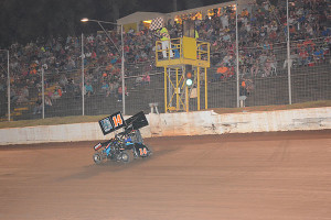 Matt McCullough takes the checkered flag