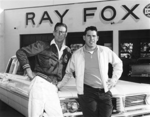 1961-62: Daytona car owner & builder Ray Fox (L) with his new driver David Pearson, who began driving for Fox in May '61 at Charlotte and gained his first-ever Cup win.Credit: Images & Archives via Getty Images