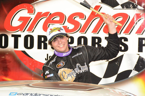 Anderson Bowen Wins the Sunoco 125 at Gresham Motorsports Park