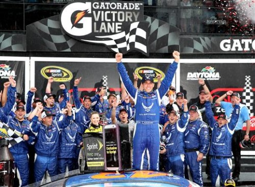 Aric Almirola captures first NSCS win at Coke Zero 400
