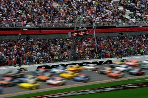 Cars race during the NASCAR Sprint Cup Series Coke Zero 400 at Daytona International Speedway on July 6, 2014 in Daytona Beach, Florida.Photo: Credit: 299674Jared C. Tilton/NASCAR via Getty Images