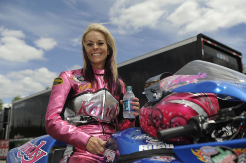 PRO STOCK MOTORCYCLE RIDER ANGIE SMITH EAGER TO CONTINUE BANNER SEASON AT NHRA SONOMA NATIONALS