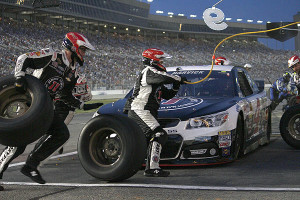 Harvick made a pit stop.