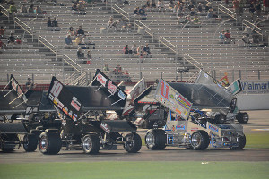 Joey Aguilar #11 and Terry Gray #10 at start of race