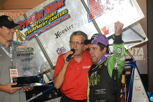 Joey Aguilar in Victory Lane