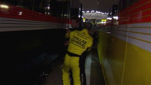 Kenseth took off after Keselowski as he was walking in between haulers, and things got physical between the two former champions, with both Keselowski and Kenseth and their crews shouting back and forth.Source: NASCAR