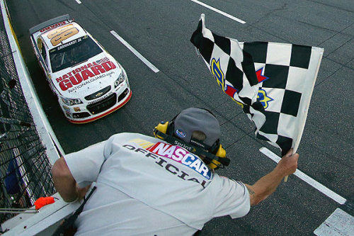 Martinsville – Junior Wins; Four Contender Drivers have Rough Day