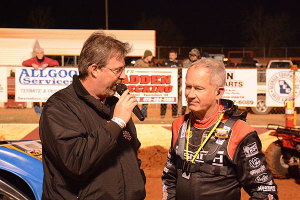 Ronnie Johnson being interviewed by Rick Elshaman.