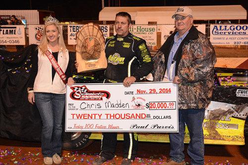 Swainsboro Raceway: Turkey 100, Madden Captures the $20,000