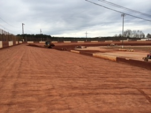 Backstretch towards exit of turn two at Senoia Raceway