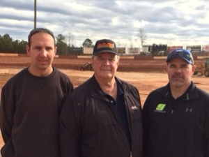Senoia Raceway new promoter team (l to r) Doug Stevens, Bill Massey, Jr., Mayes Massey (Senoia Raceway file photo)