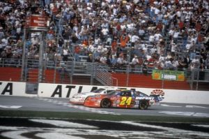 Harvick and Gordon fight it out in Atlanta back in March of 2001