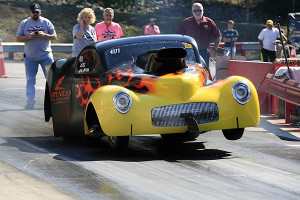 4.90 standout Joe Pactrick launches on another winning pass.Photo: Courtesy of NHRA Media