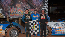 Joe Armistead, Jr. and his son Joey Armistead celebrated Father's Day one evening early as the father/son duo clean swept their respective divisions racing action at Senoia Raceway.  Armistead, Jr. nabbed […]