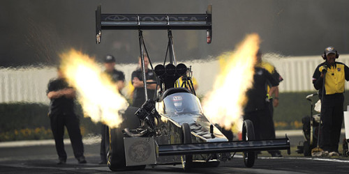 Barring an unexpected series of catastrophes or collapses, 2013 Top Fuel world champion Shawn Langdon feels safe about earning a […]