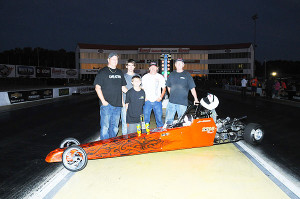 10-12 Jr Dragster winner Adam Brown and family