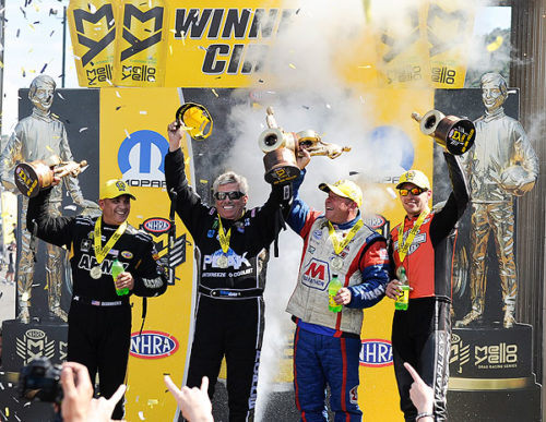 FORCE, SCHUMACHER, JOHNSON AND HINES EARN HISTORIC VICTORIES AT MOPAR MILE-HIGH NHRA NATIONALS IN DENVER