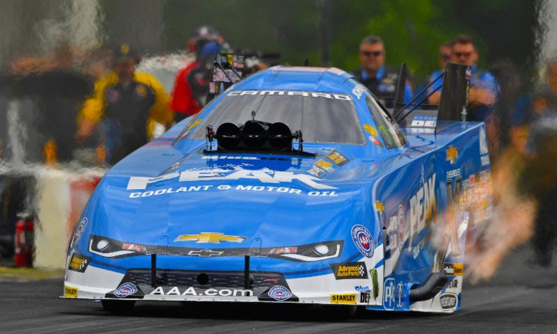 PEAK Coolant and Motor Oil Chevrolet driver John Force seeking 10th victory at Topeka