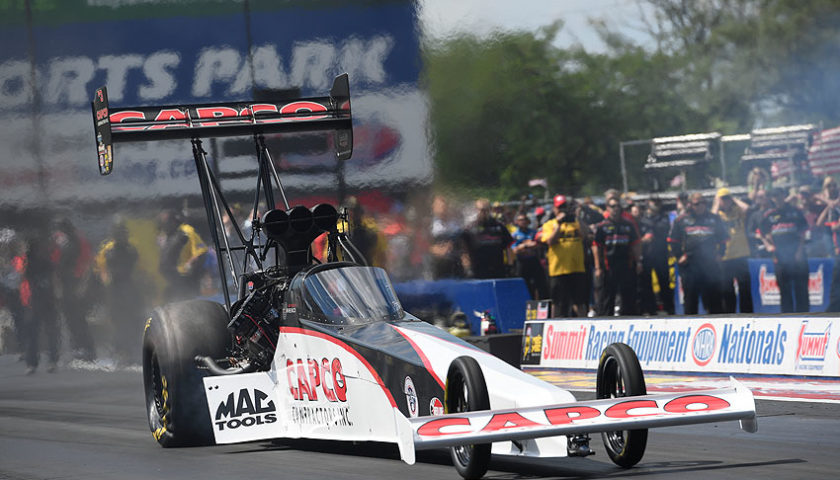 Torrence powered Top Fuel dragster to victory at NHRA Nationals in Norwalk, OH